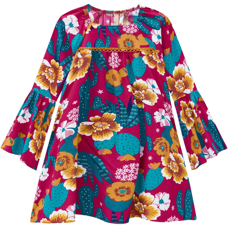 Vestido Infantil Nanai Tricoline Viscose