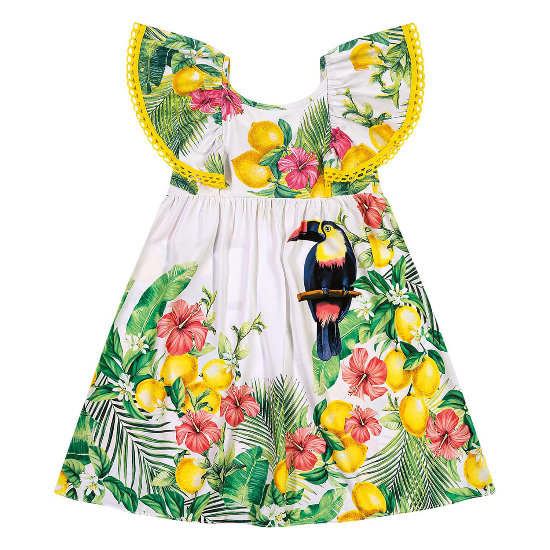 Vestido Infantil Nanai Cetim