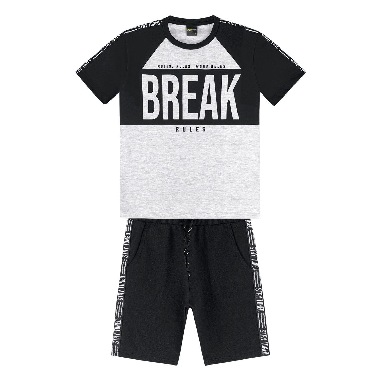 Conjunto Infantil Masculino Camiseta + Bermuda Lemon Kids